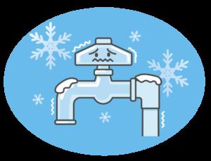 水道管凍結イメージ